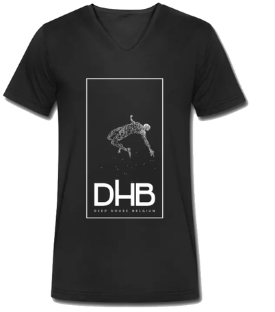 T-shirt black male logo DHB front